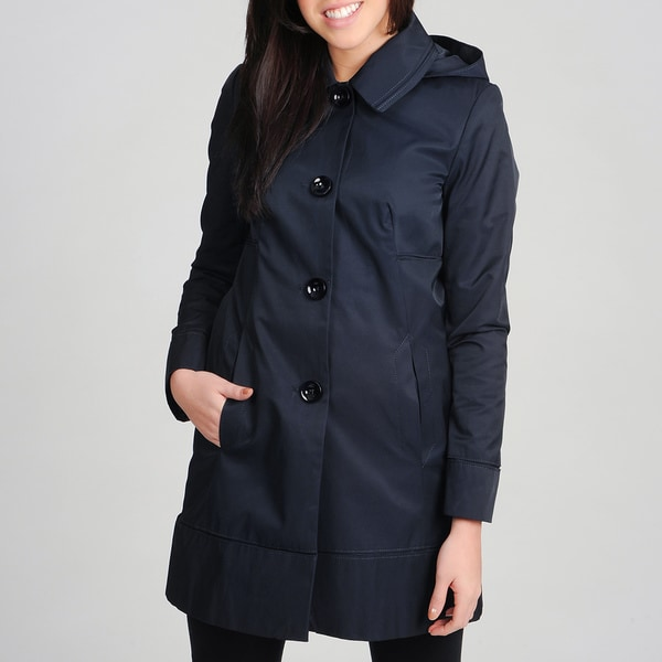 Ivanka Trump Women's Button Down Front Trench Coat