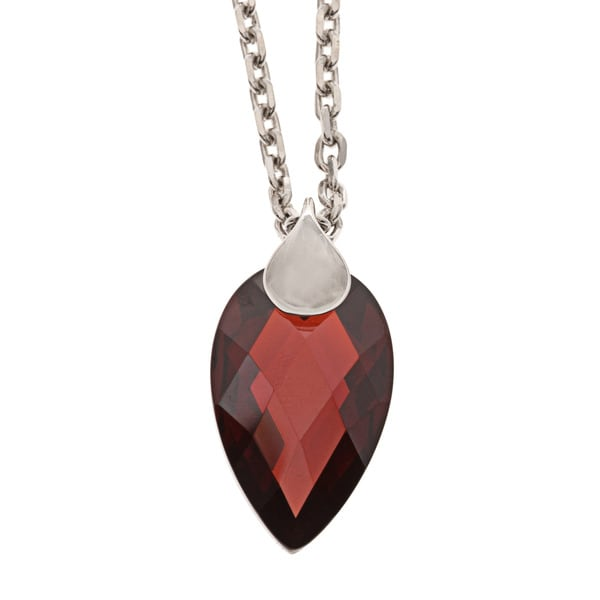 ELLE Jewelry Sterling Silver Red Cubic Zirconia Necklace