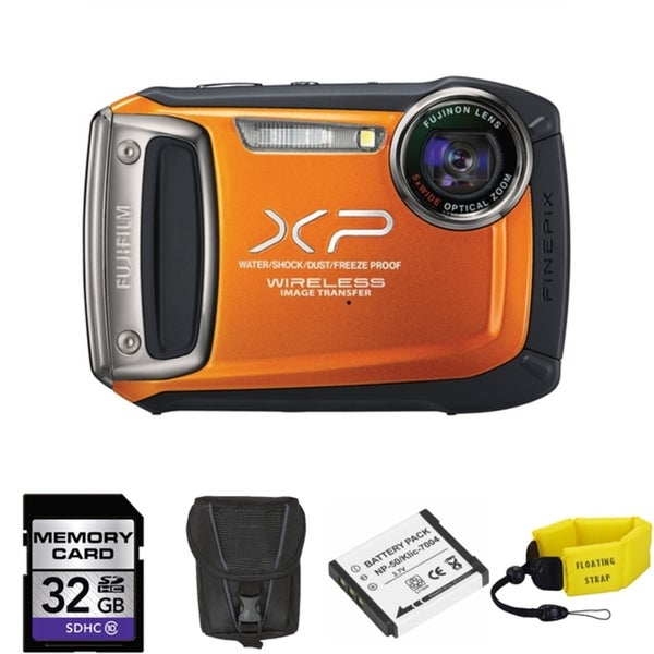 Fujifilm FinePix XP170 14MP Waterproof Digital Camera with 32GB Bundle