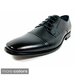 Delli Aldo Men's Leatherette Lace-up Oxford Dress Shoes