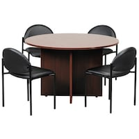 Shop OSP Furniture Inch Napa Round Conference Table Free - Round conference table for 4