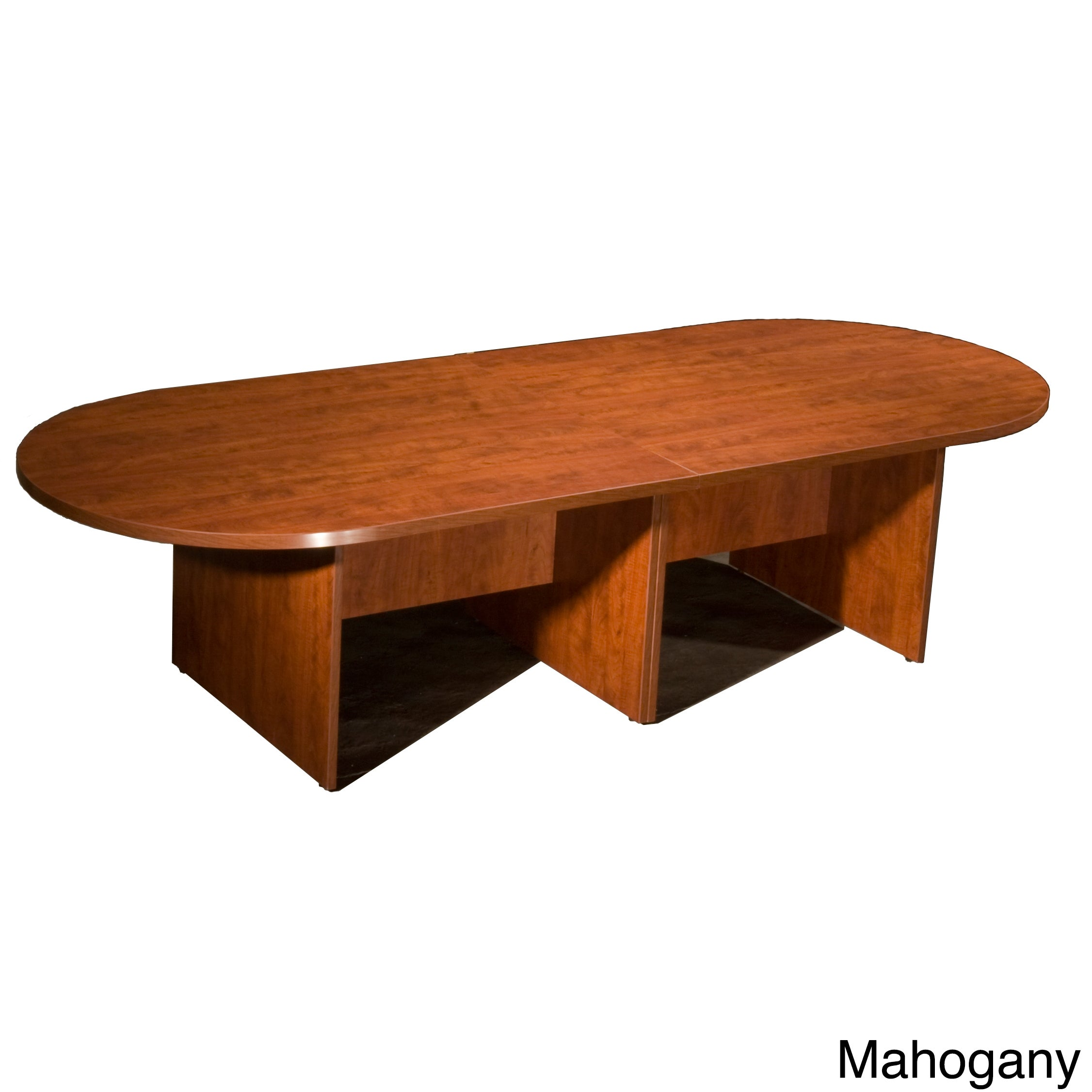 Picture of: Boss 10 Foot Racetrack Conference Table Overstock 7900859 Red Cherry Finish