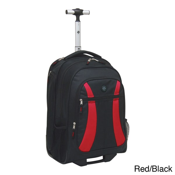 Traveler's Club 19-inch Rolling Backpack Padded Laptop Compartment