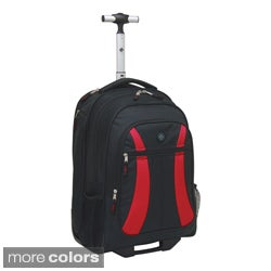 Traveler's Club 19-inch Rolling Backpack Padded Laptop Compartment ...