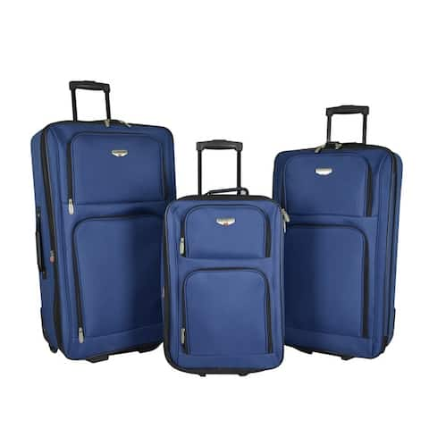 """Traveler's Club Genova Collection 3-piece Rolling Expandable Luggage Set - 29""""/26""""/20"""""""