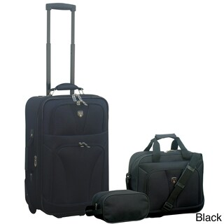 Traveler's Club Bowman Collection 3-piece Traveler's Carry-on Luggage Set (2 options available)