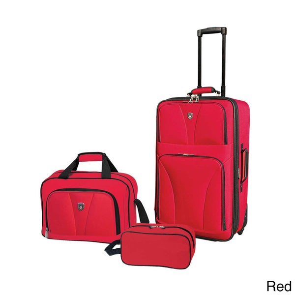 """Traveler's Club Bowman Collection 3-piece Traveler's Carry-on Luggage Set - 20"""" Carry-on/14"""" Tote/10"""" Travel Kit. Opens flyout."""