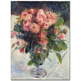 Pierre-Auguste Renoir 'Moss-Roses 1890' Modern Canvas Art