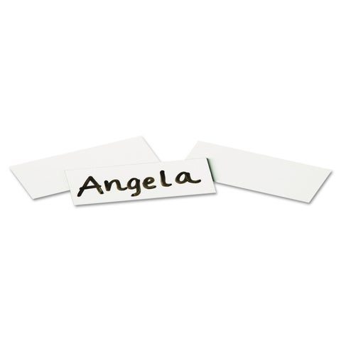 Quartet Magnetic White Write-On Wipe-Off Strips (Pack of 2)