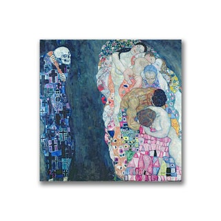 Gustave Klimt 'Death and Life' Canvas Art
