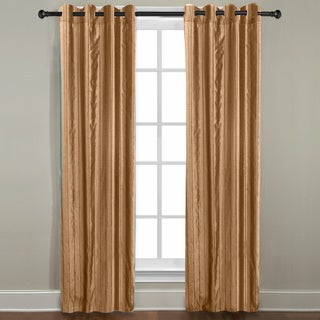 Grand Luxe Gold Braxton Grommet Curtain Panel
