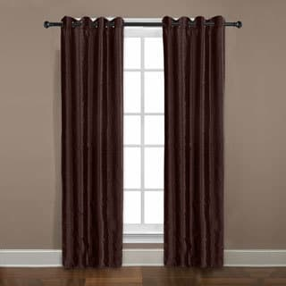 Grand Luxe Chocolate Braxton Grommet Curtain Panel