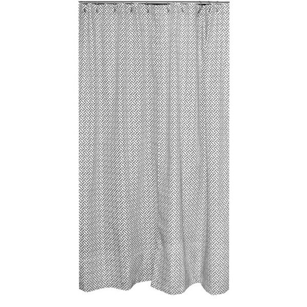 Erin Charcoal Designer Shower Curtain