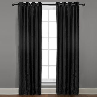 Grand Luxe Black Braxton Grommet Curtain Panel