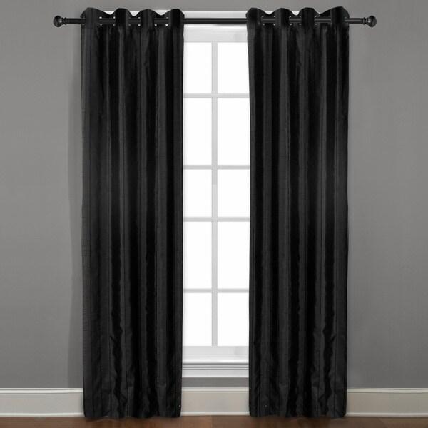 Grand Luxe Black Braxton Grommet Curtain Panel