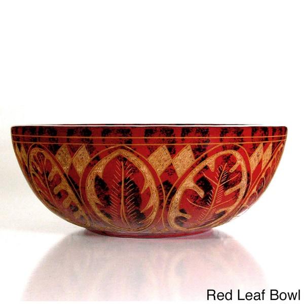 Etched Decorative Leaf Bowl Pottery (Nicaragua)