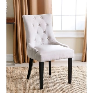 Abbyson Napa Cream Fabric Tufted Dining Chair