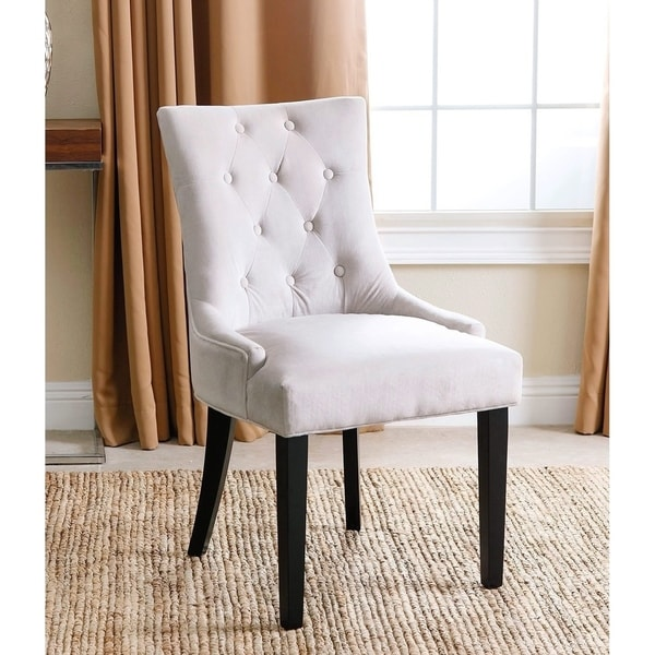 Shop Abbyson Napa Cream Fabric Tufted Dining Chair