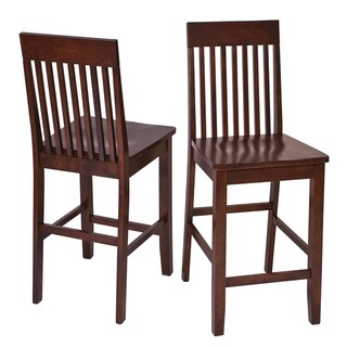 Westbrook Slate Back with Contour Seat 24-inch Bar Stools (Set of 2)