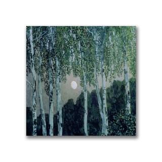 Aleksandr Golovin 'Birch Trees' Canvas Art