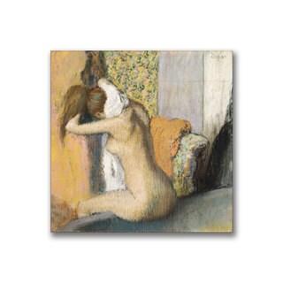 Edgar Degas 'After the Bath, Woman Drying Neck' Canvas Art