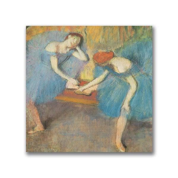 Edgar Degas 'Two Dancers at Rest' Canvas Art