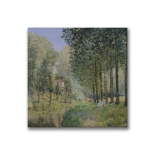 Alfred Sisley 'The Rest by the Stream' Canvas Art