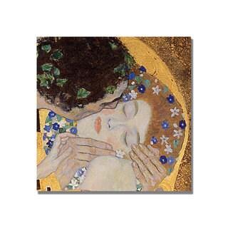 Gustav Klimt 'The Kiss' Square Canvas Art