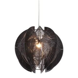 Black One-Light Ceiling Lamp