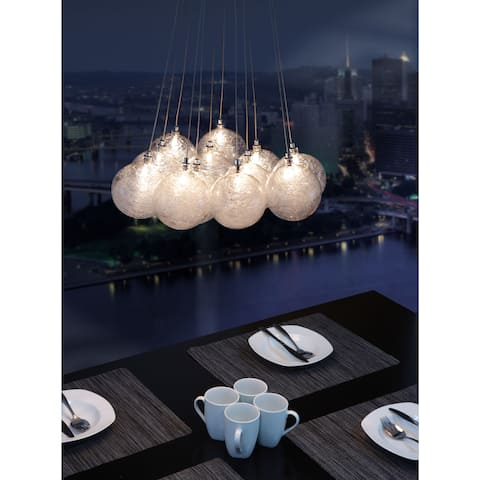 Cosmos 12-light Clear Ceiling Lamp
