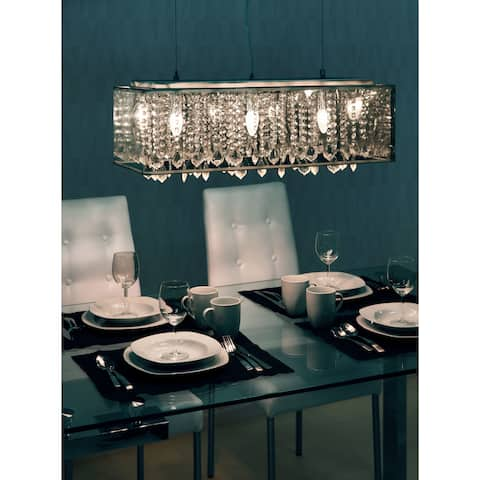Silver Orchid Glory 3-light Translucent Metallic Ceiling Lamp