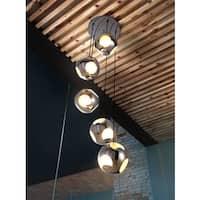 Meteor Shower 5-light Chrome Ceiling Lamp