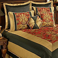 Sherry Kline Milano Red Black 8-piece Comforter Set