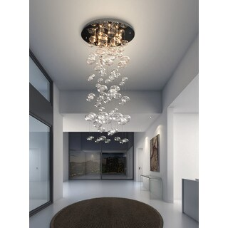 Inertia 10-light Glass Globes Ceiling Lamp