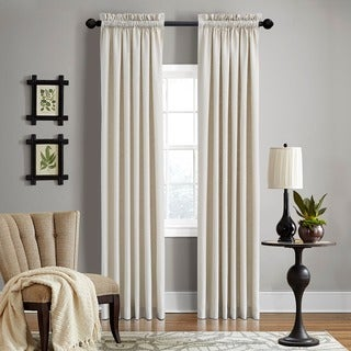 Grand Luxe Linen Gotham Khaki Rod Pocket Curtain Panel