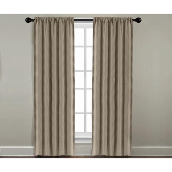 Grand Luxe Khaki Linen Gotham Rod Pocket Panel