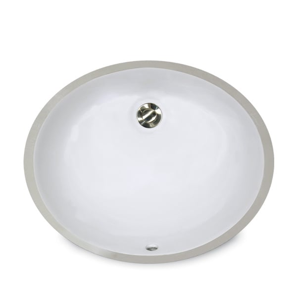 14 x 11-inch White Undermount Ceramic Oval Bathroom Sink - Free ...