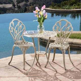 Nassau Sand Bistro Set by Christopher Knight Home