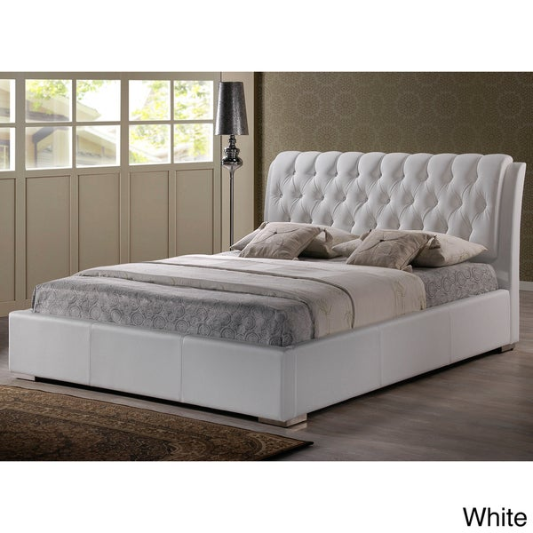 White Platform Bed Full Part - 43: Baxton Studio Bianca Modern And Contemporary Faux Leather Upholstered Full-sized  Platform Bed With Tufted Headboard - Free Shipping Today - Overstock.com -  ...