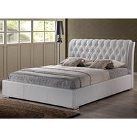 Oliver & James Cheri White Full-size Platform Bed