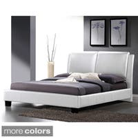 Baxton Studio Sabrina Modern Full-sized Bed with Overstuffed Headboard