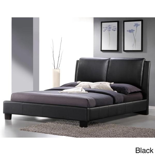 Baxton Studio Sabrina Modern Full-sized Bed with Overstuffed Headboard