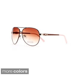 DASEIN by Anais Gvani Women's Classic Aviator Sunglasses with Logo Accent