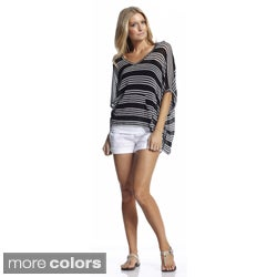 Elan Women's Front Pocket Elbow Sleeve Hooded Poncho