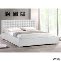 Clay Alder Home Mildred White Contemporary Full-size Bed w/ Upholstered Headboard