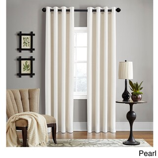 Grand Luxe 100-Percent Linen Gotham Grommet Top Curtain Panel (More options available)
