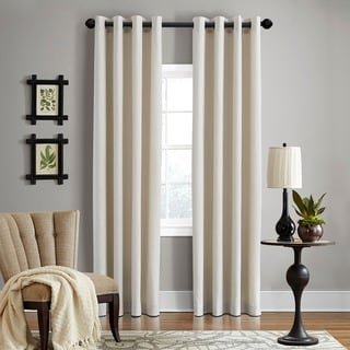 Grand Luxe Linen Gotham Khaki Grommet Window Panel