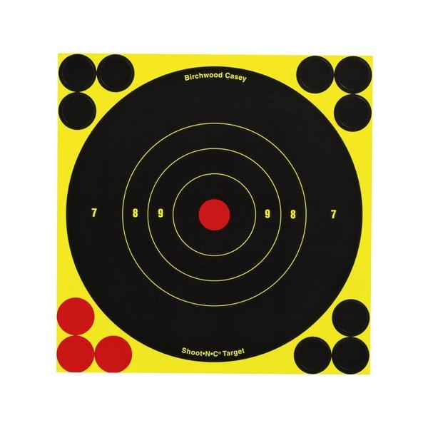 Birchwood Casey Shoot-N-C 8-inch Bull's Eye Targets (Pack of 30)