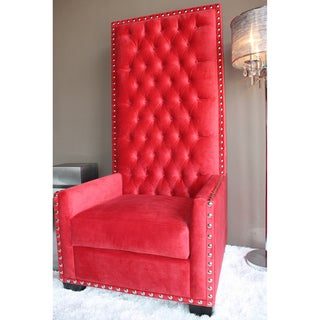 Shop Decenni Custom Furniture Emperor Red Tufted High