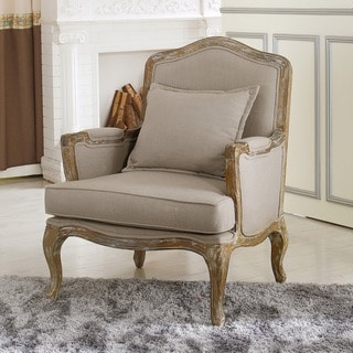Baxton Studio Constanza Antiqued French Accent Arm Chair